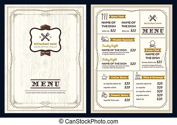 stile, deco, arte, menu ristorante, cornice, disegno, retro, sagoma, vendemmia, caffè, o