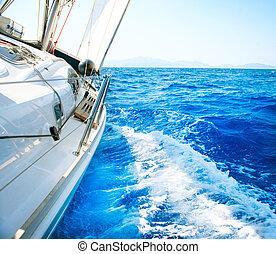 stile di vita, sailing., yachting., yacht., lusso, tourism.