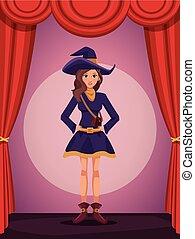 stile, donna, cosplay