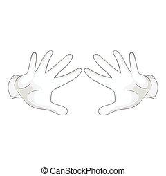 stile, due, movimento, nero, mani, icona, monocromatico