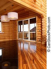 stile, eseguito, casa legno, hight-tech, spazioso, salone