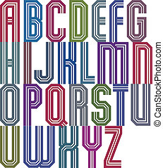 stile, fatto, carattere tipografico, font, retro, geometrico...