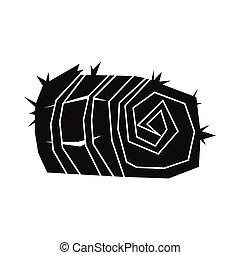stile, frumento, semplice, covone, illustrazione, vettore, disegno, nero, silhouette, icona