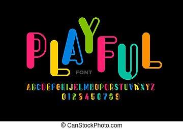 stile, giocoso, font