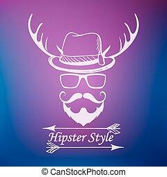 stile, hipster, etichetta