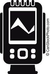 stile, icona, digitale, eco, semplice, sounder