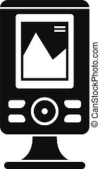 stile, icona, eco, fishfinder, semplice, sounder