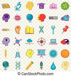 stile, icone affari, set, creativo, cartone animato