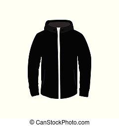 stile, incappucciato, illustrazione, giacca, articolo, moda, nero