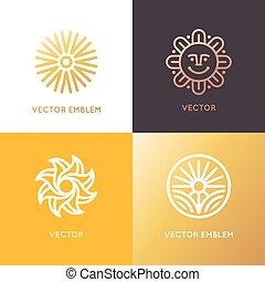 stile, lineare, astratto, vettore, disegno, sagoma, trendy, logotipo