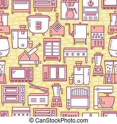 stile, modello, seamless, apparecchiatura, linea, cucina