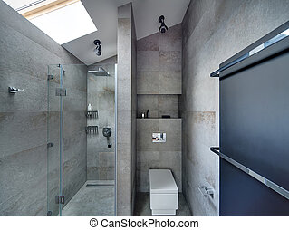 stile, moderno, bagno