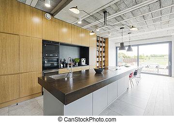stile, moderno, cucina