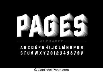 stile, pagine, font, invertendo
