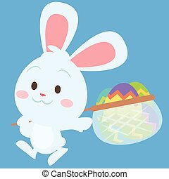stile, pasqua, tema, uovo, coniglietto, felice