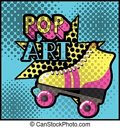 stile, pattino, arte, retro, pop