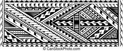 stile, polynesian, étnico, tatuaje, brazo