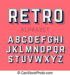 stile retro, alfabeto