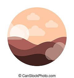 stile, sabbia, cielo, sole, icona, paesaggio, appartamento, ...