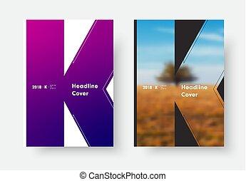 stile, sagoma, manifesto, k, moderno, photo., nero, lettera, bianco