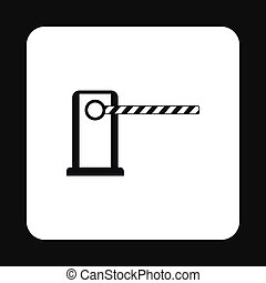 stile, semplice, lotto, parcheggio, icona, cancello
