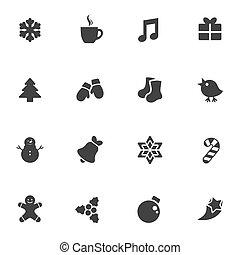 stile, set, inverno, forma, vettore, adesivi, icona
