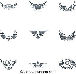 stile, set, libertà, semplice, modo, logotipo