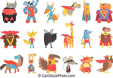 stile, set, travestito, animas, geometrico, adesivi, superheroes