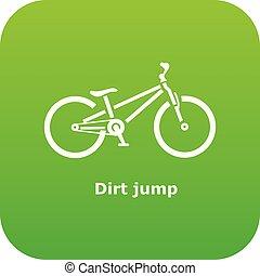 stile, sporcizia, semplice, salto, bicicletta, icona
