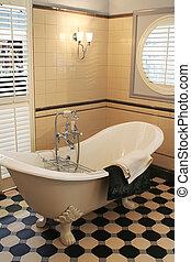 stile, stanza bagno, classico