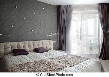 stile, stanza, pulito, europeo