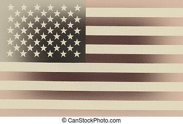stile, unito, vendemmia, stati, bandiera, america