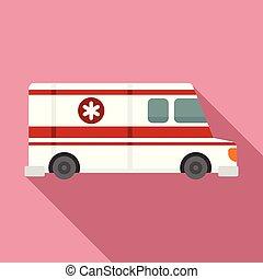 stile, veicolo, ambulanza, icona, appartamento