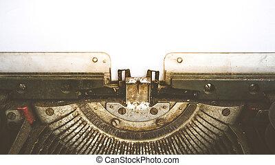 stile, vendemmia, carta, bianco, vuoto, macchina scrivere