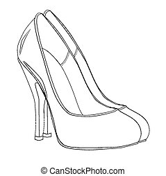 Stiletto Heel Sketch - A sketch of a pair of stiletto heel...