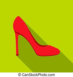 Stiletto icon in flat style isolated on white background. Shoes symbol stock vector illustration.
