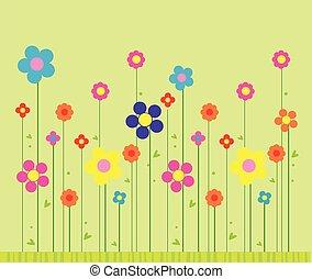 stilig, bakgrund, blomma