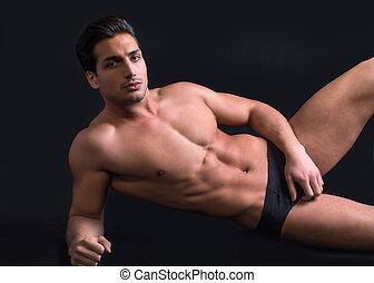 Naken män modell