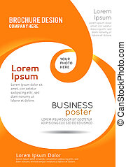 stilig, presentation, av, affär, affisch, tidskrift, täcka, design, layout, mall
