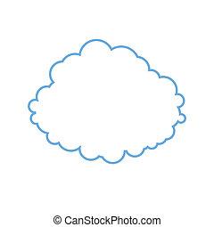stilisiert, bild, wolke