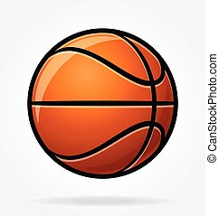 stilisiert, karikatur, vektor, basketball