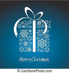 stilisiert, kasten, weihnachtsgeschenk