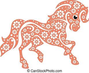 stilisiert, pony