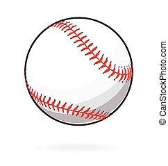 stilisiert, vektor, baseball, einfache