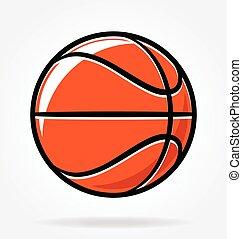 stilisiert, vektor, basketball, karikatur
