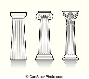 stilizzato, colonne greche