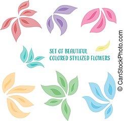 stilizzato, fiori