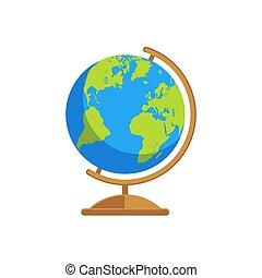 stilizzato, globo terra, vettore, illustrazione