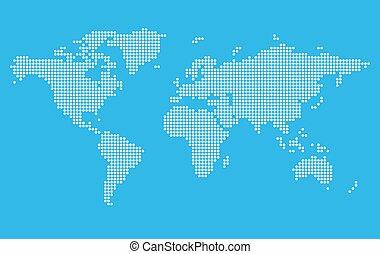stilizzato, mappa mondo