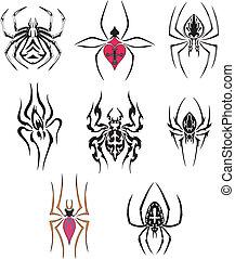 stilizzato, ragni